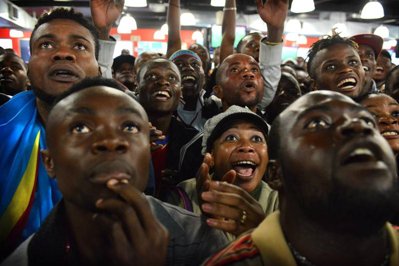 NOT FOR RESALE JOHANNESBURG - 20130120 - Congo  supporters feeling tension during the Afcon match Congo-Ghana in Yeoville, Johannesburg. Photo: Bram Lammers  NOT FOR RESALE. COPYRIGHT BRAM LAMMERS PHOTOGRAPHY