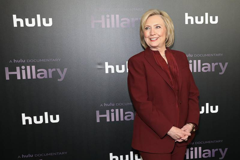 """NEW YORK, NEW YORK - MARCH 04: Hillary Rodham Clinton attends Hulu's """"Hillary"""" NYC Premiere on March 04, 2020 in New York City.   Monica Schipper/Getty Images for Hulu/AFP"""
