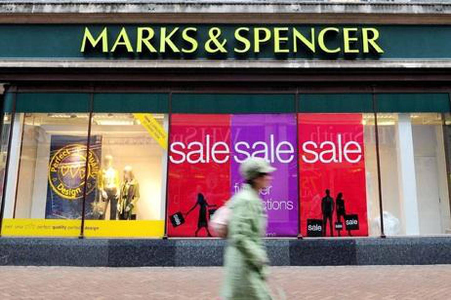 """File photo dated 7/1/2009 of a Hull branch of the retail giant Marks & Spencer, as boss Sir Stuart Rose reported better-than-expected sales today after seeing an """"improving trend"""" in the retailer's performance."""