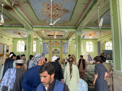 Blast at mosque in Afghan city of Kandahar – in pictures