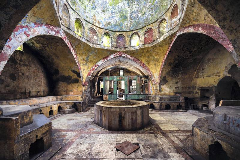 EXFOLIATE | A FORMER TURKISH HAMMAMSince the 16th century, Turkish bath houses have been popular places to wash and relax in Lebanon. But thirty years ago, due to the civil war shut most of them down. Courtesy: James Kerwin