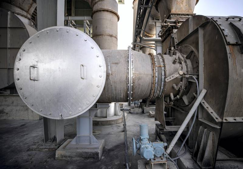 Abu Dhabi, United Arab Emirates, March 29, 2021.   Tadweer's medical incineration site which has been receiving much more waste over the past year due to Covid-19. --  The Incinirator Plant area of the facility.Victor Besa/The NationalSection:  NAReporter:  Haneen Dajani