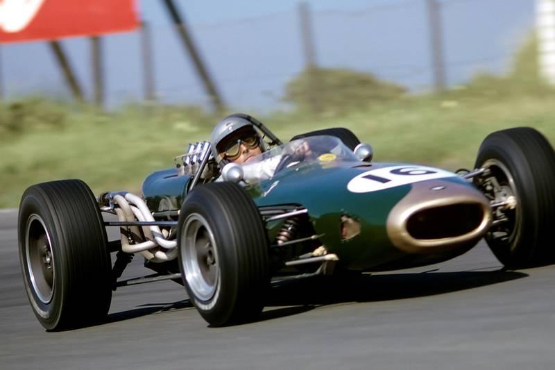 Jack Brabham, Brabham-Repco BT19, Grand Prix of the Netherlands, Circuit Park Zandvoort, 24 July 1966. (Photo by Bernard Cahier/Getty Images)