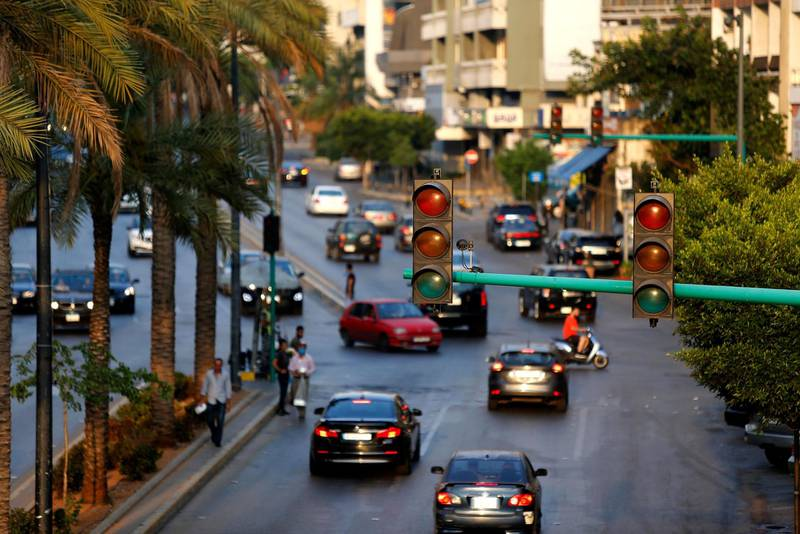 Mandatory Credit: Photo by Xinhua/Shutterstock (10702629d)Traffic lights are out on a street during a blackout in Beirut, Lebanon, July 5, 2020. Hundreds protested on Sunday near Lebanon's state power utility Electricite Du Liban (EDL) against increased power cuts in the country, a local media outlet reported. Lebanon has seen an increase in power cuts from three hours to about 14 hours a day in the past two weeks because of the shortage in fuel used to operate the power plants.Lebanon Beirut Power Cuts - 05 Jul 2020
