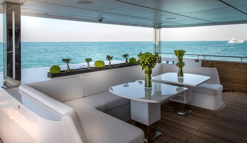 Majesty 140 - Interior - Aft Seating Area. Courtsey: Seven Media