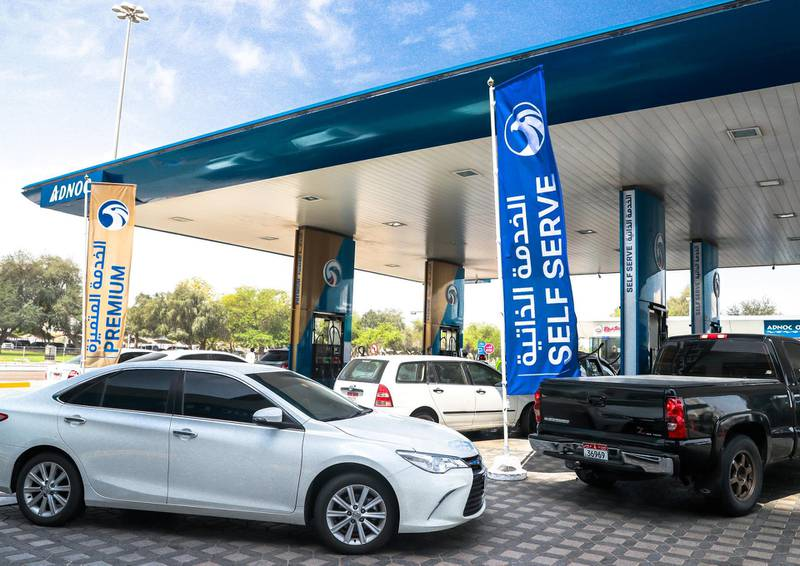 Abu Dhabi, UAE,  April 12, 2018.   Subject: ADNOC Station - Airport Road near Hilton and Al Mushrif Mall.  Self Service is soon to come to AUH.Victor Besa / The NationalNA