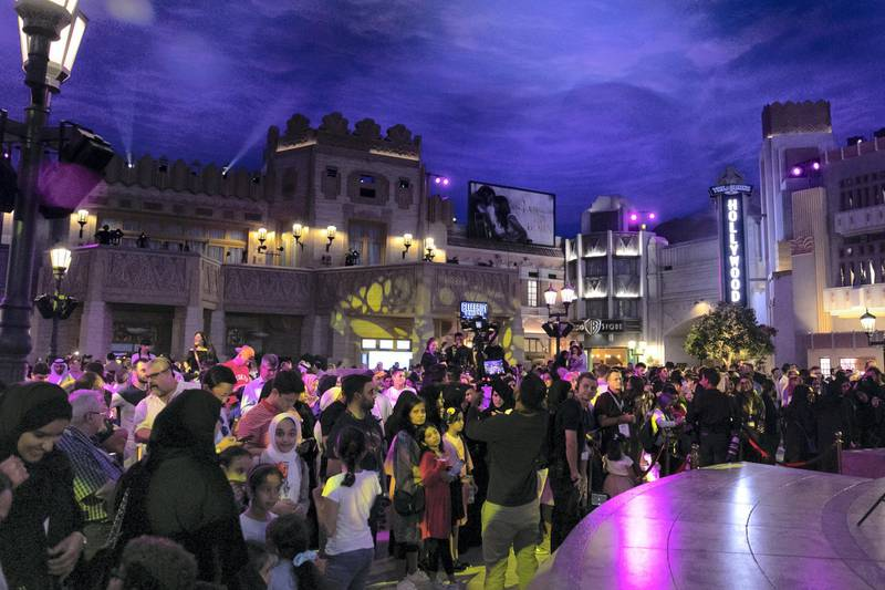 ABU DHABI, UNITED ARAB EMIRATES - JULY 24, 2018. Guests invited to experience Warner Bros World Abu Dhabi a day before it's official opening.Almost 15,000 tickets for Warner Bros World Abu Dhabi have been sold ahead of opening to the public on Wednesday.(Photo by Reem Mohammed/The National)Reporter: Section: NA + AL