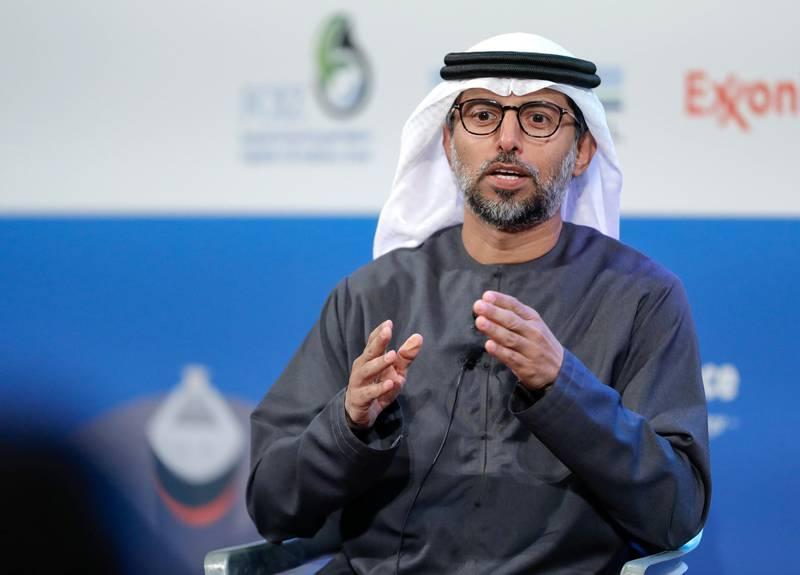 Abu Dhabi, United Arab Emirates, January 8, 2020.  UAE Energy Forum 2020-AUH.   H.E. Suhail Al Mazrouei, Minister of Energy & Industry, United Arab Emirates Victor Besa / The NationalSection:  NAReporter:   Jennifer Gnana
