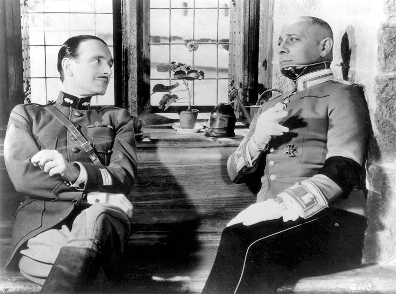 Erich von Stroheim and Pierre Fresnay in La grande illusion (1937) Courtesy: Rialto Pictures.