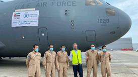 Coronavirus: UAE military cargo plane delivers hospital parts to Ghana
