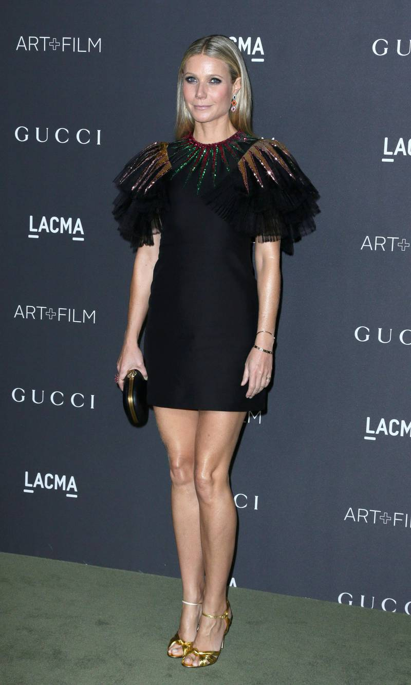 epa05609456 US actress Gwyneth Paltrow arrives for the LACMA Art+Film Gala at the Los Angeles County Museum of Art (LACMA) in Los Angeles, California, USA, 29 October 2016. Now in it's sixth year, the LACMA Art+Film Gala brings together noteables from the art, film, fashion and entertainment industries. This year's honorees are US artist Robert Irwin and US filmmaker Kathryn Bigelow.  EPA/PAUL BUCK