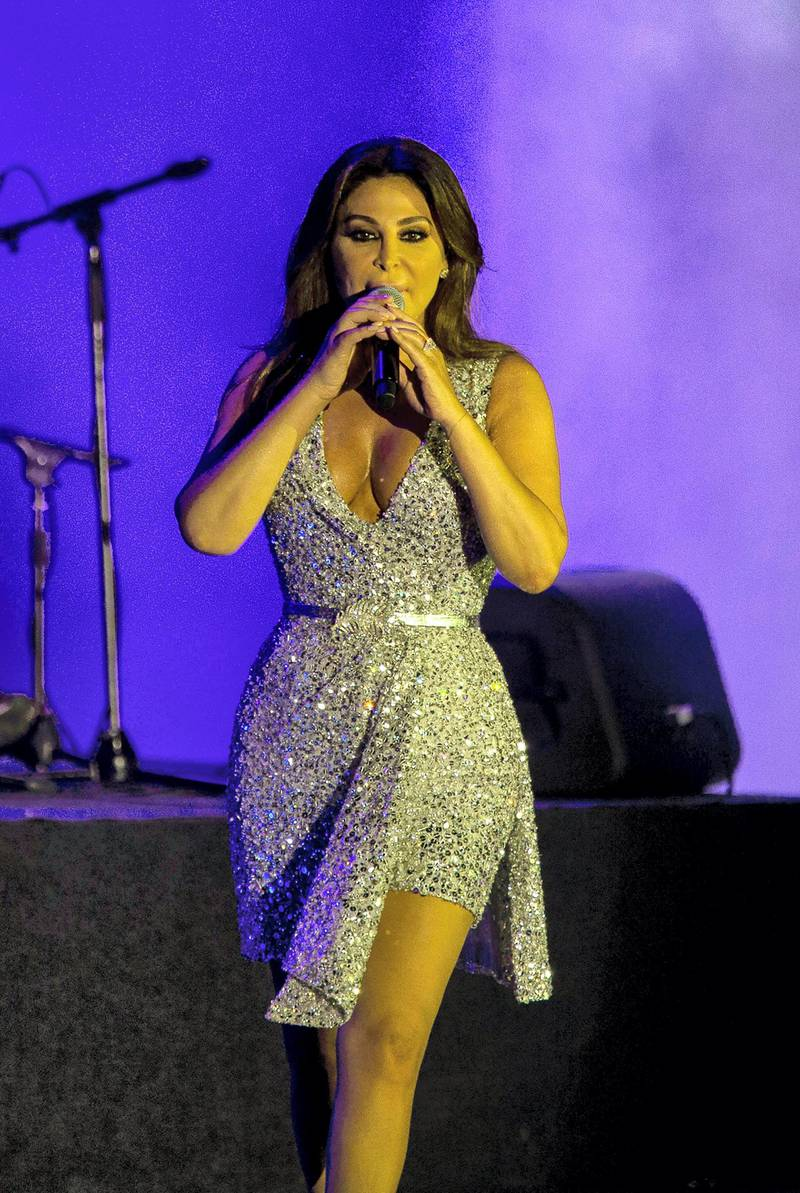 Mandatory Credit: Photo by Nabil Mounzer/EPA-EFE/Shutterstock (10348108i) Lebanese singer Elissa performs during a concert at the seaside waterfront of Beirut, Lebanon, 26 July 2019, during the Beirut Holidays 2019 festival. Lebanese singer Elissa in Beirut Holidays 2019 festival in Lebanon - 26 Jul 2019