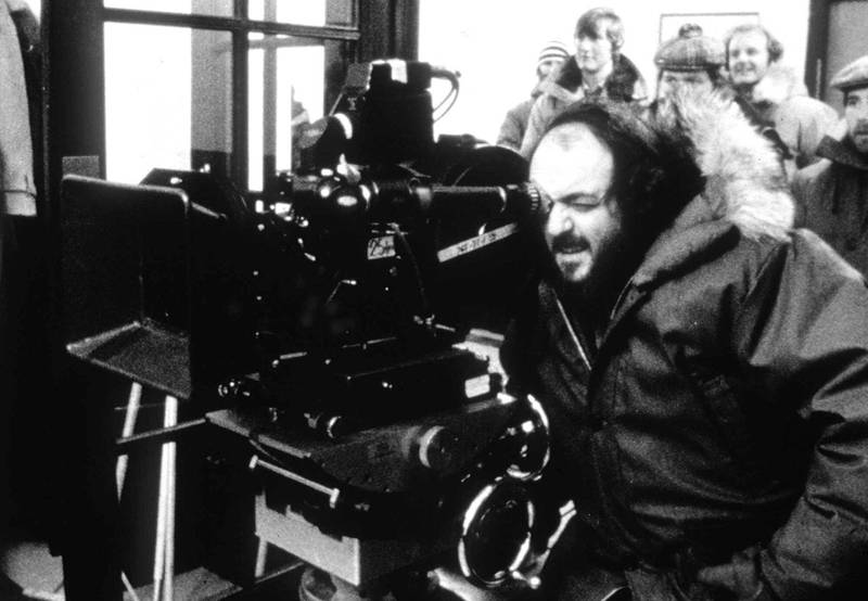 """FILE - In this undated photo, American director Stanley Kubrick shoots on the set of the film """"The Shining"""" at his home in England. The New York Times reports the Museum of the City of New York will showcase Kubrick's photographs for Look magazine in a new exhibit opening May 3 and running until late October 2018. (AP Photo/File)"""