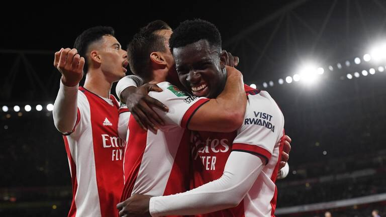 An image that illustrates this article Arsenal v Leeds ratings: Smith Rowe: 8, Nketiah 7; Struijk 4, Phillips 7