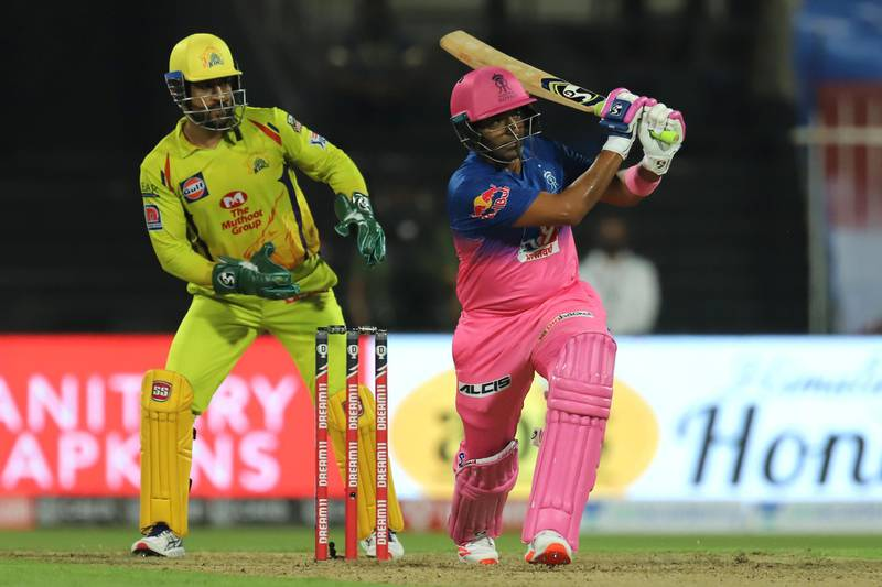 Robin Uthappa of Rajasthan Royals bats during match 4 of season 13 of the Dream 11 Indian Premier League (IPL) between Rajasthan Royals and Chennai Super Kings held at the Sharjah Cricket Stadium, Sharjah in the United Arab Emirates on the 22nd September 2020. Photo by: Deepak Malik  / Sportzpics for BCCI
