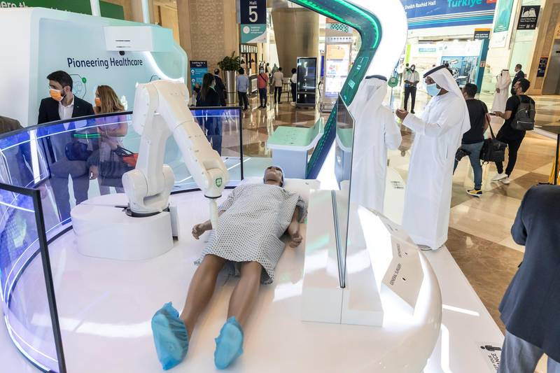 The third day of Arab Health 2021 at the Dubai World Trade Center on June 23rd, 2021. Antonie Robertson / The National.Reporter: Patrick Ryan for National