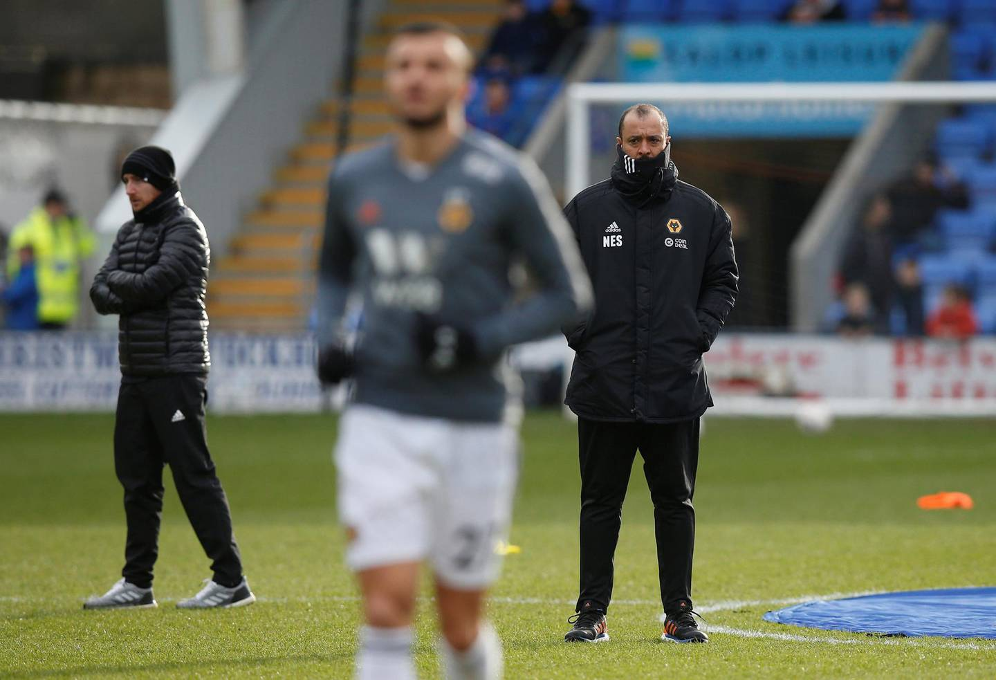 Soccer Football - FA Cup Fourth Round - Shrewsbury Town v Wolverhampton Wanderers  - Montgomery Waters Meadow, Shrewsbury, Britain - January 26, 2019  Wolverhampton Wanderers manager Nuno Espirito Santo looks on during the warm up before the match   REUTERS/Andrew Yates