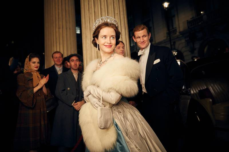 A handout photo of Claire Foy and Matt Smith in The Crown (Robert Viglasky / Netflix) *** Local Caption ***  al31oc-cover-crown.jpg
