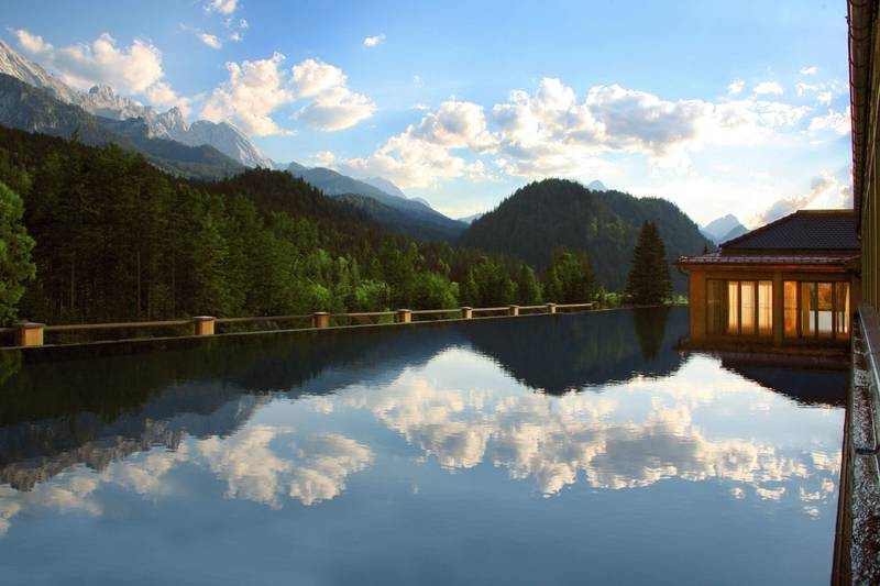 A handout photo of Rooftop Pool at Schloss Elmau in Germany (Courtesy: The Leading Hotels of the World)