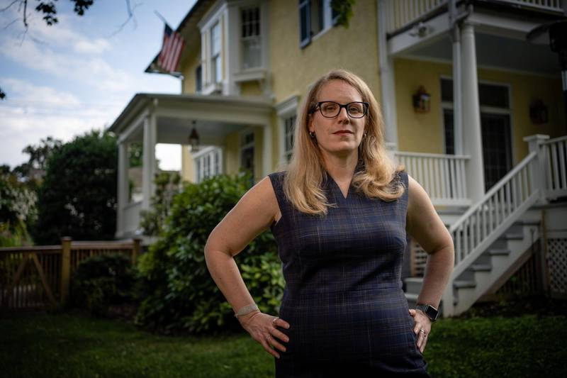 CHEVY CHASE, MD -- AUGUST 14: Jen OMalley Dillon is the Biden Campaign Manager. (photo by Andre Chung for The Washington Post via Getty Images)