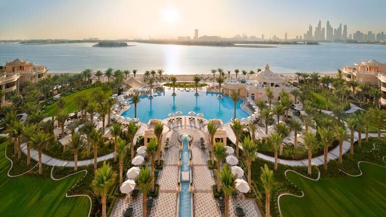 An image that illustrates this article Ultra-luxury Raffles The Palm Dubai resort will open to guests on Friday