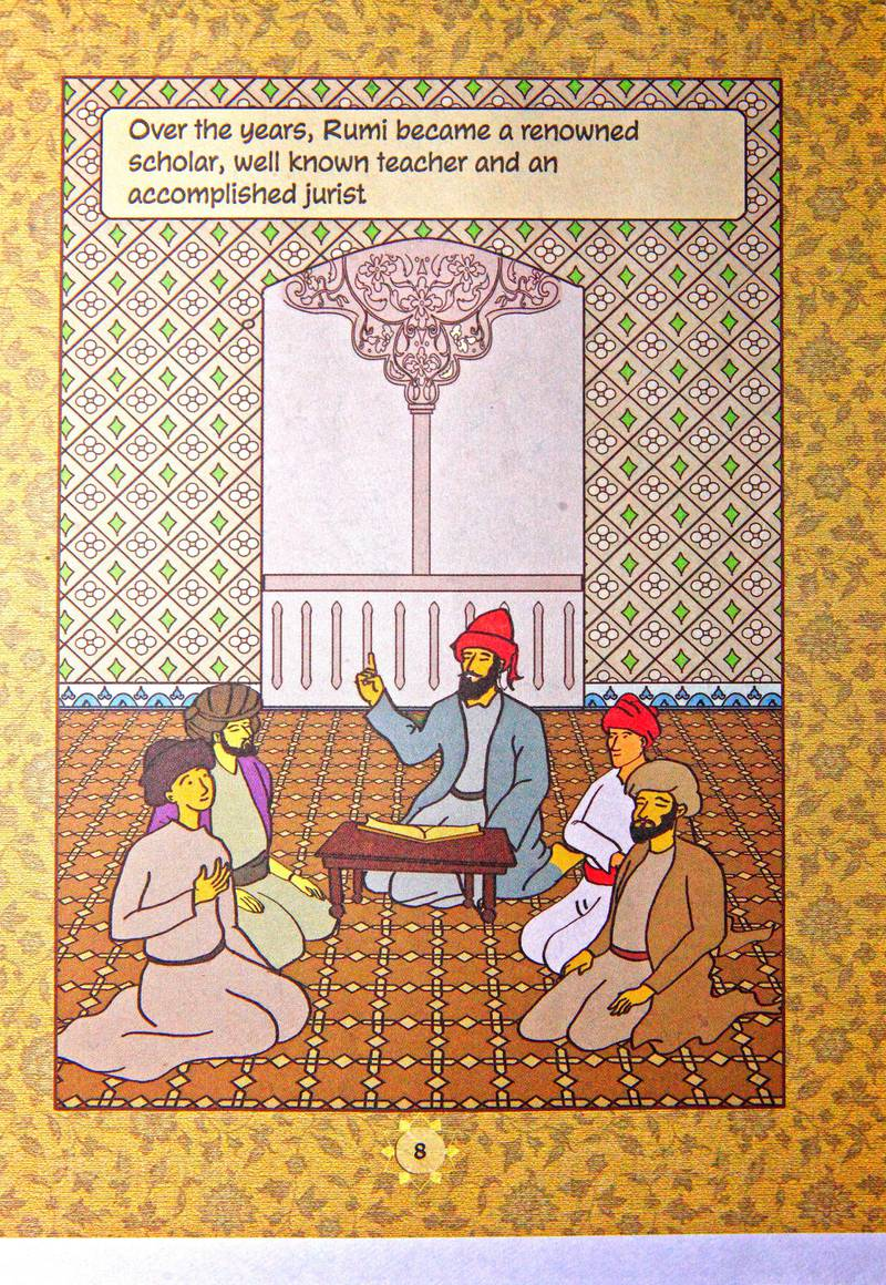 3 sept. 2014 - Bangalore , India:The original  art work for the book 'Rumi' by Sufi Comics.(Subhash Sharma for The National)