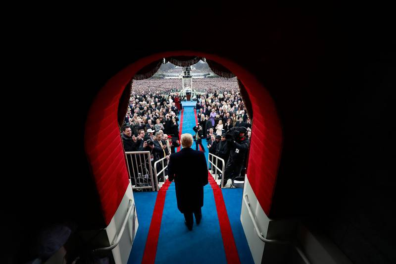 President-elect Donald J. Trump arrives at the inauguration ceremonies swearing him in as the 45th president of the United States at the United States Capitol in Washington, D.C., U.S., January 20, 2017. REUTERS/Doug Mills/Pool  TPX IMAGES OF THE DAY