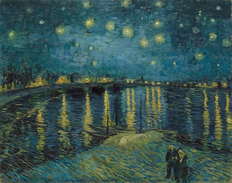 Vincent van Gogh (1853 – 1890) Starry Night  1888 Oil paint on canvas 725 x 920 mm Paris, Musée d'Orsay  Photo (C) RMN-Grand Palais (musée d'Orsay) / Hervé Lewandowski