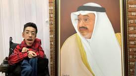 Rakan Kurdi: the Saudi artist with muscle atrophy who's painted portraits of Sheikh Zayed and Mohammed bin Salman