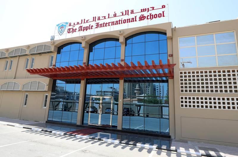 Dubai, United Arab Emirates - September 18, 2019: Tour of Apple International School. Wednesday the 18th of September 2019. Dubai. Chris Whiteoak / The National