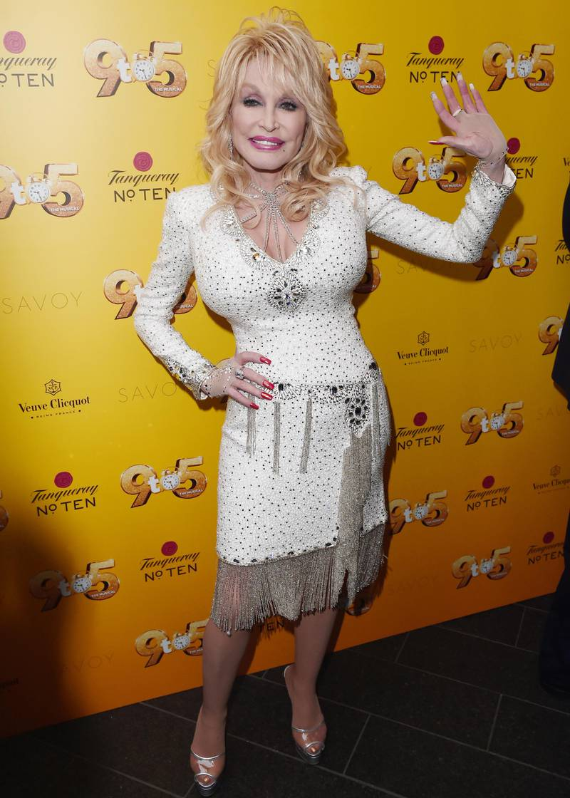 LONDON, ENGLAND - FEBRUARY 17: Dolly Parton attends the gala evening of Dolly Parton's '9 TO 5' The Musical at The Savoy Theatre on February 17, 2019 in London, England. (Photo by Eamonn M. McCormack/Getty Images)