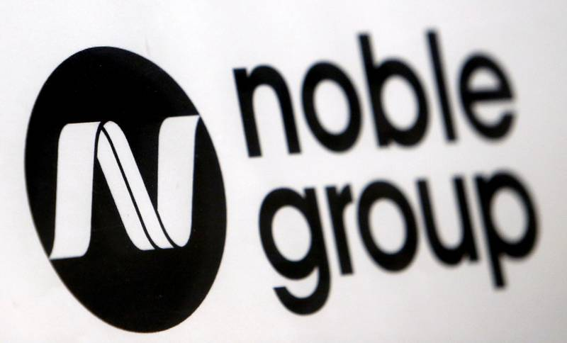 FILE PHOTO - A Noble Group sign is pictured at a meet-the-investors event in Singapore August 17, 2015. REUTERS/Edgar Su/File Photo