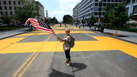 Road to White House painted with Black Lives Matter mural