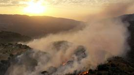 Two dead as fires burn through forests in Syria and Lebanon