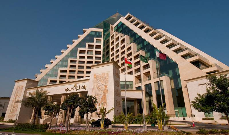 Exterior views of the Raffles Dubai hotel on Wednesday, March 24, 2010 in Dubai, United Arab Emirates. Photo: Charles Crowell for The National