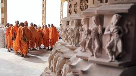 Intricate carvings for Abu Dhabi's first Hindu temple take shape in India