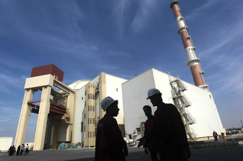 (FILES) A file photo taken on October 26, 2010 shows the reactor building at the Russian-built Bushehr nuclear power plant in southern Iran, 1200 Kms south of the Iranian capital Tehran. Iran said on May 8, 2019 it will stop respecting limits on its nuclear activities agreed under a landmark 2015 deal unless other powers help Tehran bypass renewed US sanctions, amid rising tensions with Washington. / AFP / MEHR NEWS / MAJID ASGARIPOUR