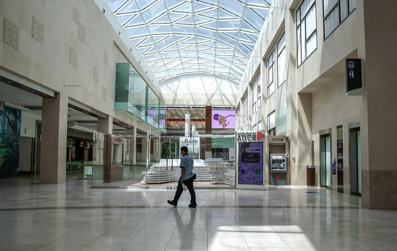 Abu Dhabi, United Arab Emirates, April 30, 2020.  Abu Dhabi officials on Wednesday said they were considering reopening malls soon, as they began a consultation with traders.  Yas Mall  sterilisation preparations before reopening.Victor Besa / The NationalSection:  NAFor:  Standalone/Stock Images