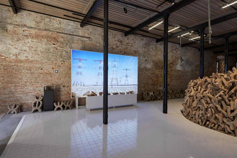 Wetland Curated by Wael Awar and Kenichi Teramoto. Image courtesy National Pavilion UAE La Biennale di Venezia. Photography by Frederico Torra for PLANE-SITE.
