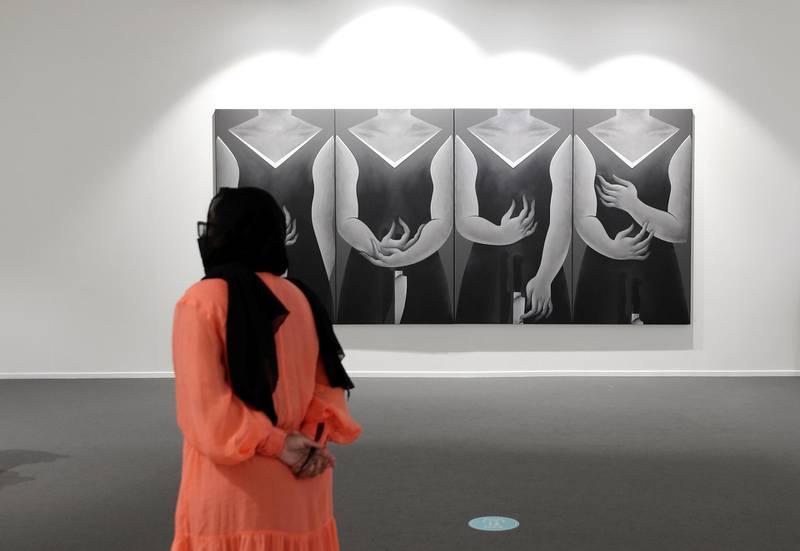 Dubai, United Arab Emirates - Reporter: Alexandra Chaves. Arts and Lifestyle. Dream 181 by Safwan Dahoul. Art Dubai 2021 opens at the DIFC. Tuesday, March 30th, 2021. Dubai. Chris Whiteoak / The National
