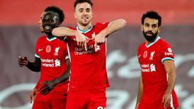 Hat-trick hero Diogo Jota relishing playing alongside 'world class' Mohamed Salah and Sadio Mane