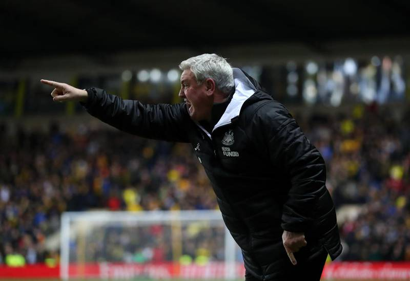 OXFORD, ENGLAND - FEBRUARY 04: Steve Bruce manager of Newcastle United during the FA Cup Fourth Round Replay match between Oxford United and Newcastle United at Kassam Stadium on February 04, 2020 in Oxford, England. (Photo by Catherine Ivill/Getty Images)