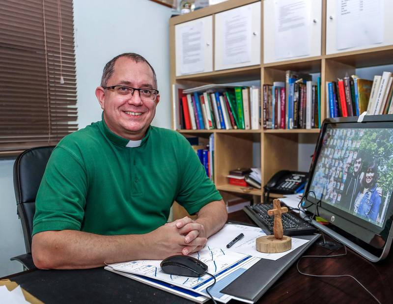 Abu Dhabi, U.A.E., July 22, 2018.Reverend Andy Thompson of St. Andrew's Anglican Church.Victor Besa / The NationalSection:  NAReporter:  Haneen Dajani