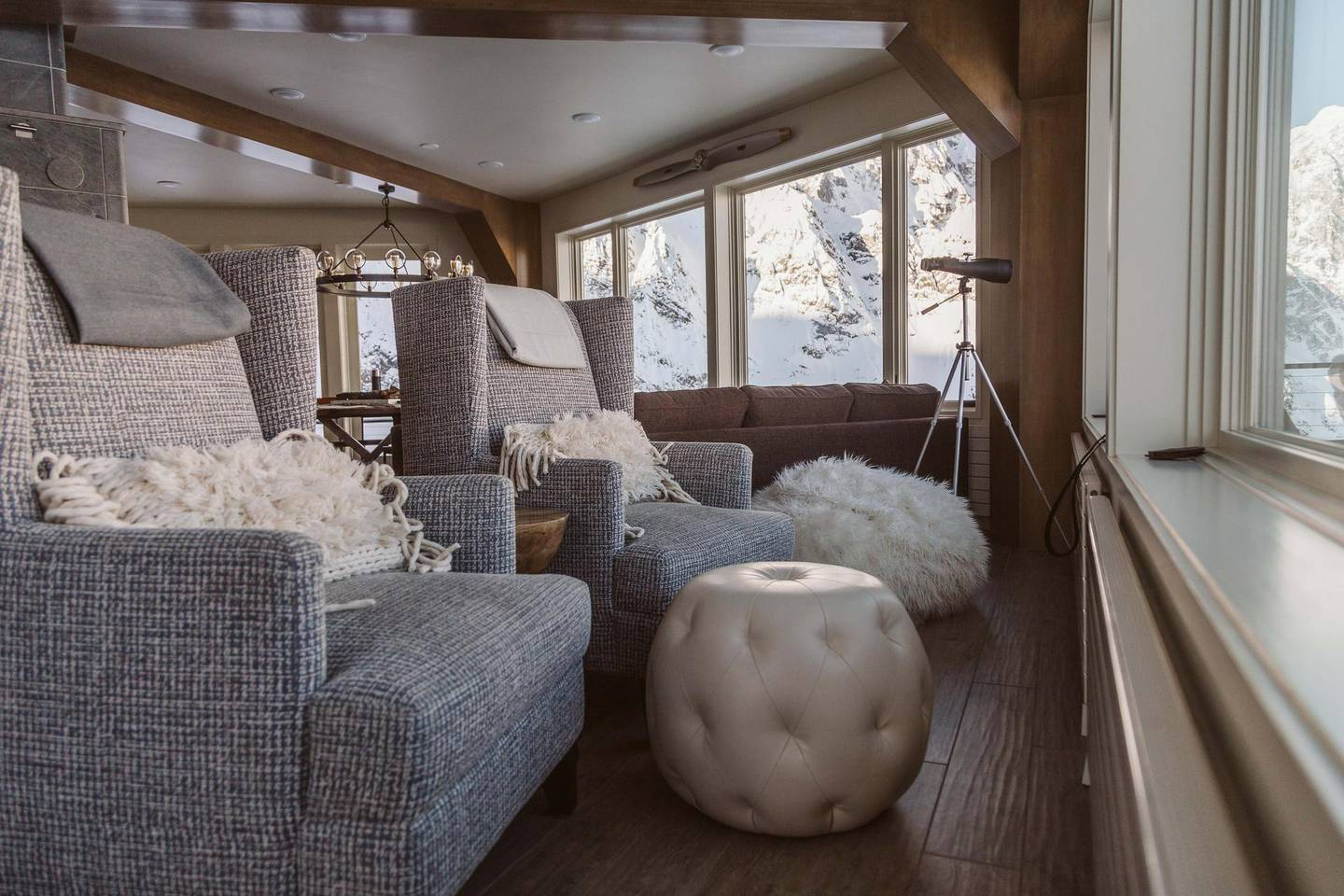 Interior of Sheldon Chalet. Photo by Totem Ent