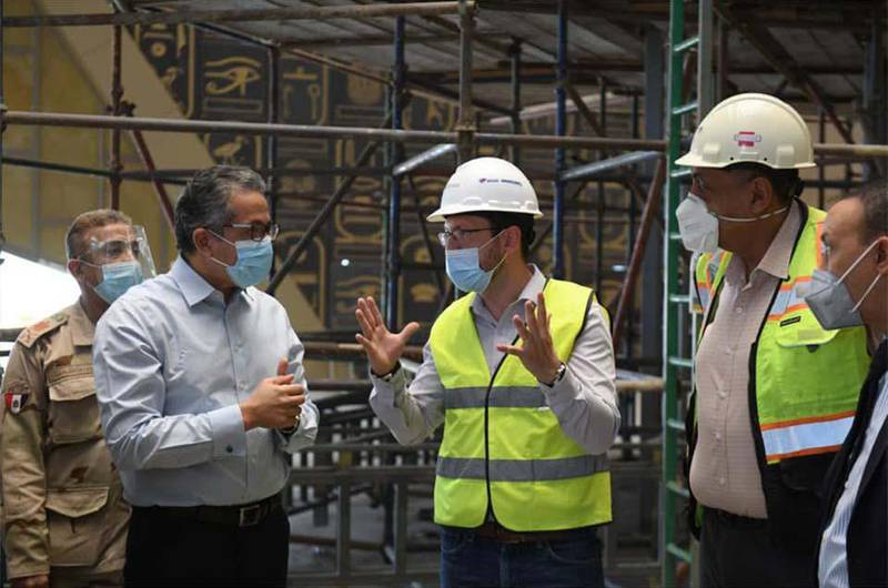 A checkout tour to finalize the museum show at the Grand Egyptian Museum. Courtesy Egypt's Ministry of Tourism and Antiquities