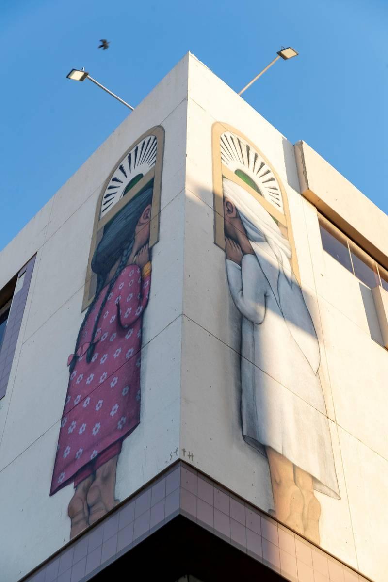 Dubai, United Arab Emirates - Reporter: N/A: Photo project. Street art and graffiti from around the UAE. Monday, January 27th, 2020. Al Satwa, Dubai. Chris Whiteoak / The National