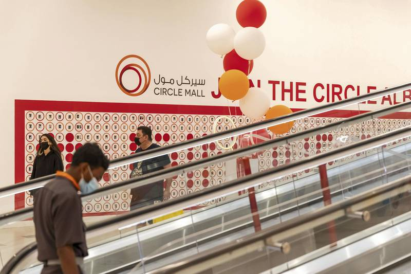 DUBAI, UNITED ARAB EMIRATES. 11 APRIL 2021. the newly opened Circle Mall in jvc with some of the shops already serving eager residents of Jumeirah Village Circle. (Photo: Antonie Robertson/The National) Journalist: Janice Rodrigues. Section: National.