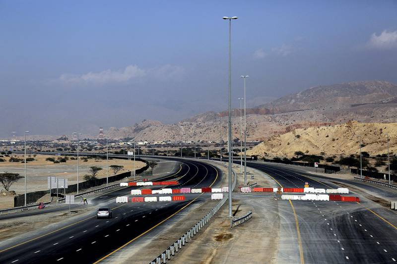Ras Al Khaimah, Jan, 16, 2018: General view of the new ring road in Ras Al Khaimah. Satish Kumar for the National / Story by Anna Zacharias