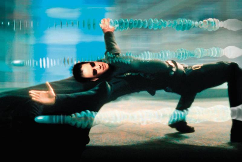 Keanu Reeves in The Matrix. Courtesy Warner Bros.