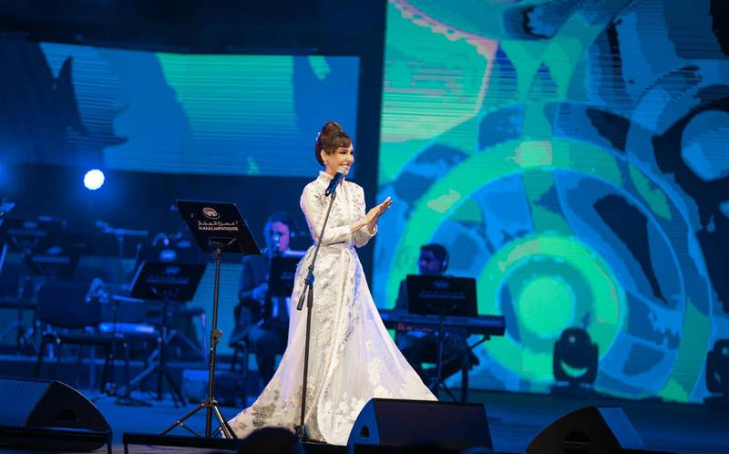 Oraib performs at the 49th National Day show at Al Majaz Amphitheatre in Sharjah, December 3. Wam